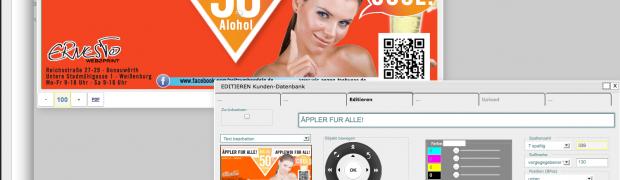 Zeitungs-Anzeigen, Karten, Plakate – einfach im Browser individualisieren.