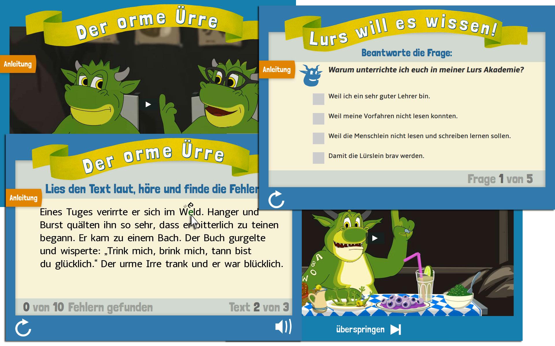 HTML5 Lernspiele für Kinder mit Lese- Rechtschreibschwäche